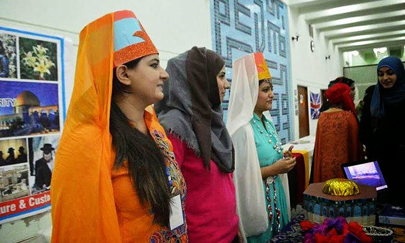 The Israel stall at the mock UN fair at the International Islamic University in Islamabad. —Online Photo