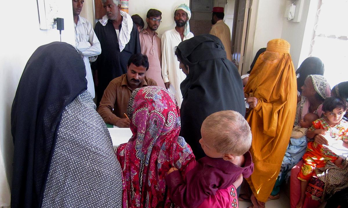Patients at PPHI Jahan Khan, BHU Shikarpur