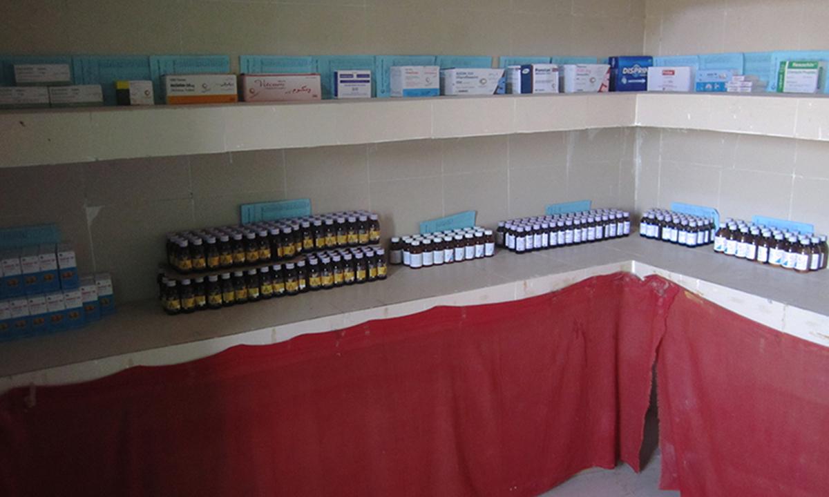 Medicines at PPHI Basic Health Unit Kamber Shahdadkot
