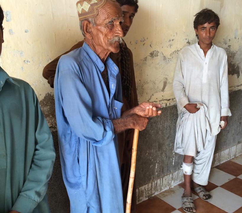 Dog bite victim, Jacobabad Rural Health Centre