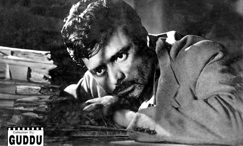 Khalil Qaiser in the film Clerk, Photos courtesy Guddu Film Archive