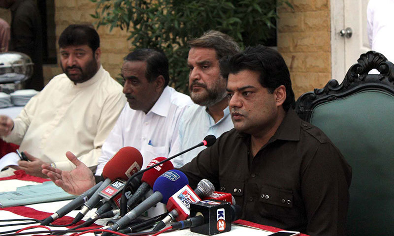 SSP Usman Bajwa speaks at a press conference in Karachi on Friday. – PPI Photo