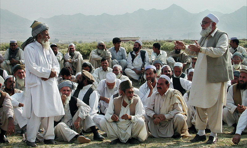 Tribal elders gather to attend a Jirga or 'tribal assembly' in northwestern Khyber Pakhtunkhwa province. — AFP/File