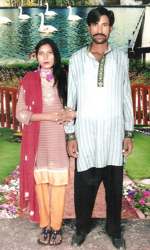This undated family handout photo received on November 5 shows the Christian couple who were killed by a Muslim mob in Kot Radha Kishan - AFP