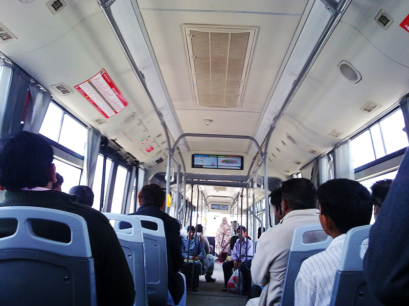 Inside the bus. — Photo credite: Mehfil Pakistan forum