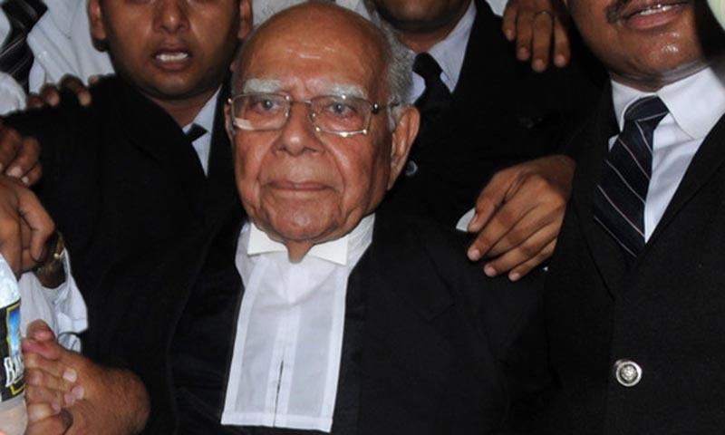 Former BJP legislator and eminent lawyer Ram Jethmalani. - AFP/file