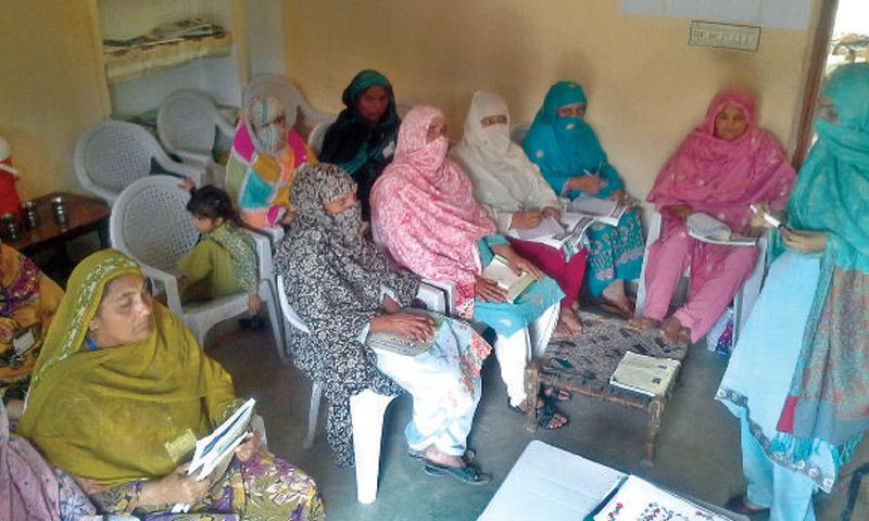 RAHIM YAR KHAN: Women get dairy farming training.– Dawn
