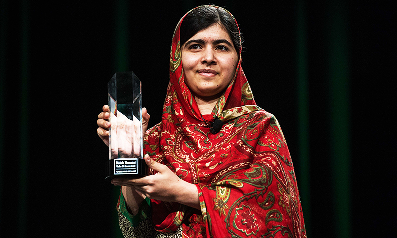 Pakistani Nobel peace laureate Malala Yousafzai. -File/Reuters