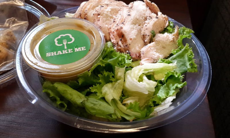 Chicken Caesar Salad at Evergreen. - Photo by author.