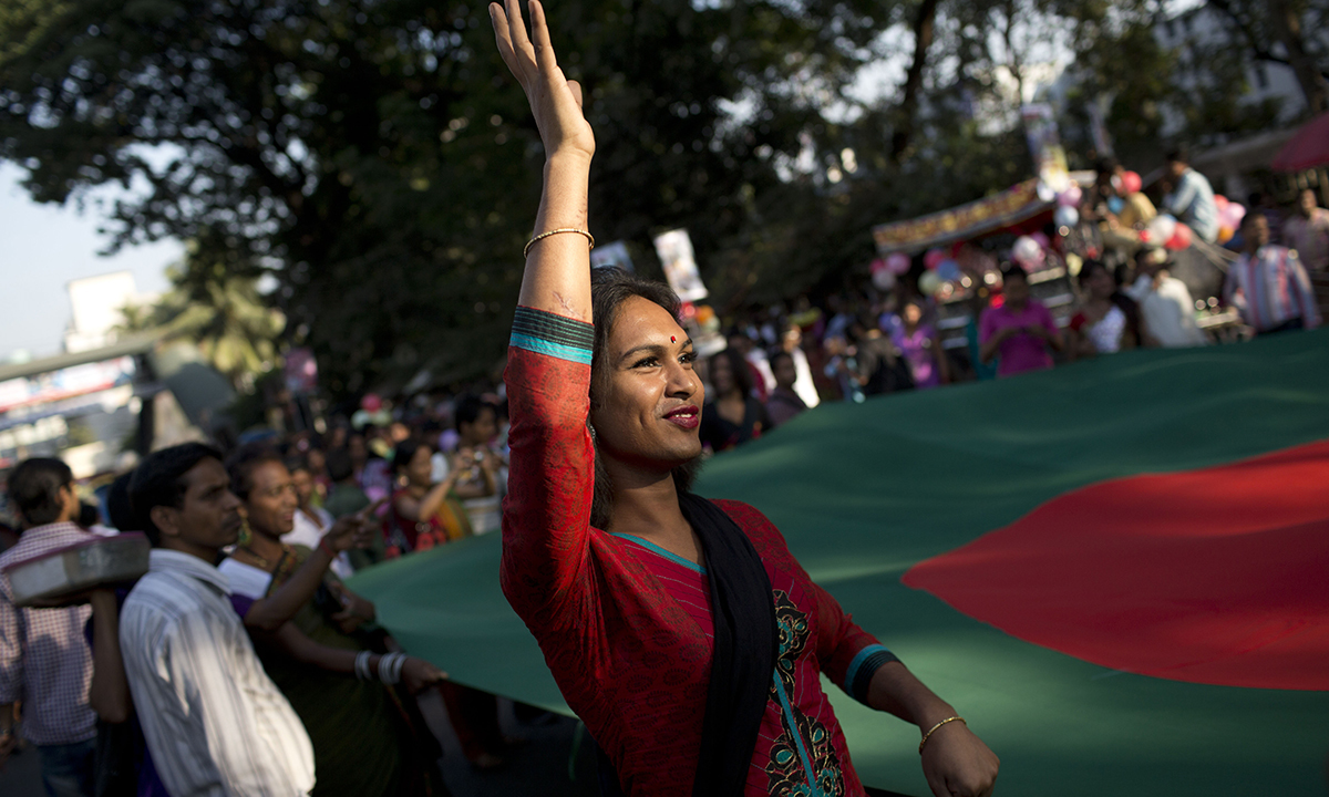 Transgenders at the pride rally in Dhaka.— AP Photo
