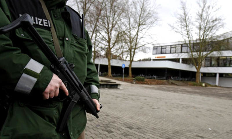 Some 240 police officers took part in the sweep, which targeted a network believed to support Islamists in Syria.-AP/file