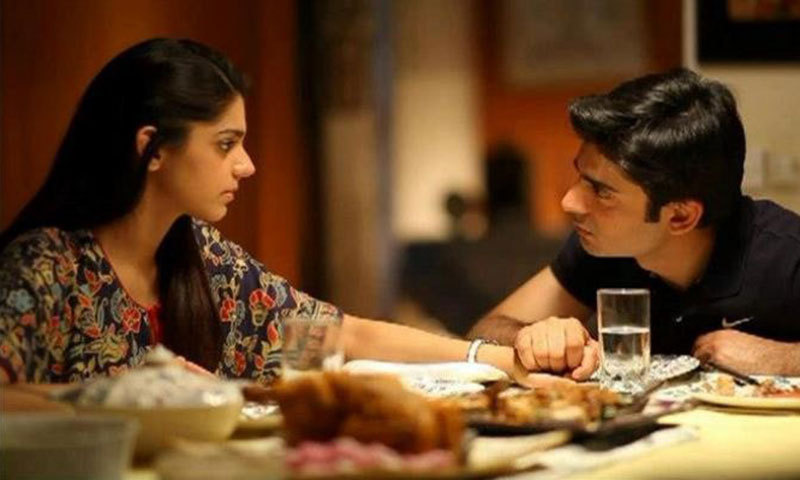 Sanam Saeed and Fawad Khan in a scene from