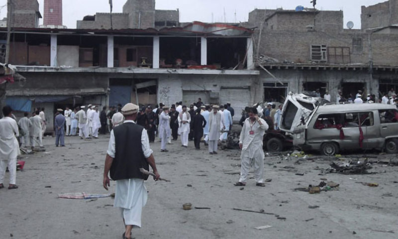 Two dead, five injured in roadside blast near Parachinar school van