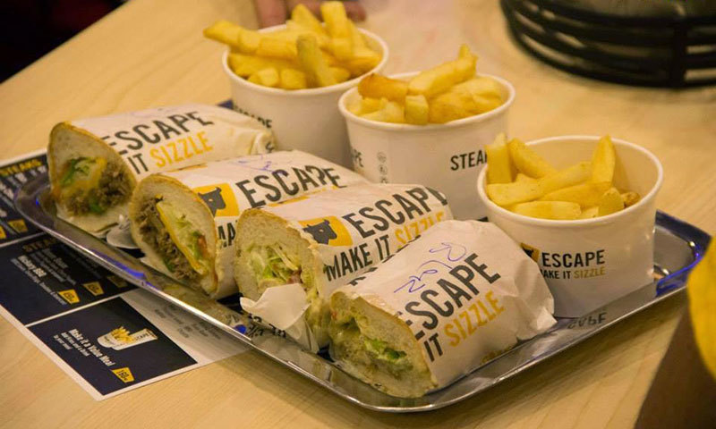 Cheese Steaks. - Photo courtesy: Steak Escape Facebook page