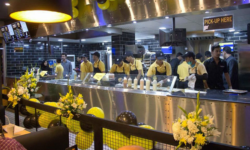 Their open style industrial kitchen is their unique selling point. - Photo courtesy: Steak Escape Facebook page