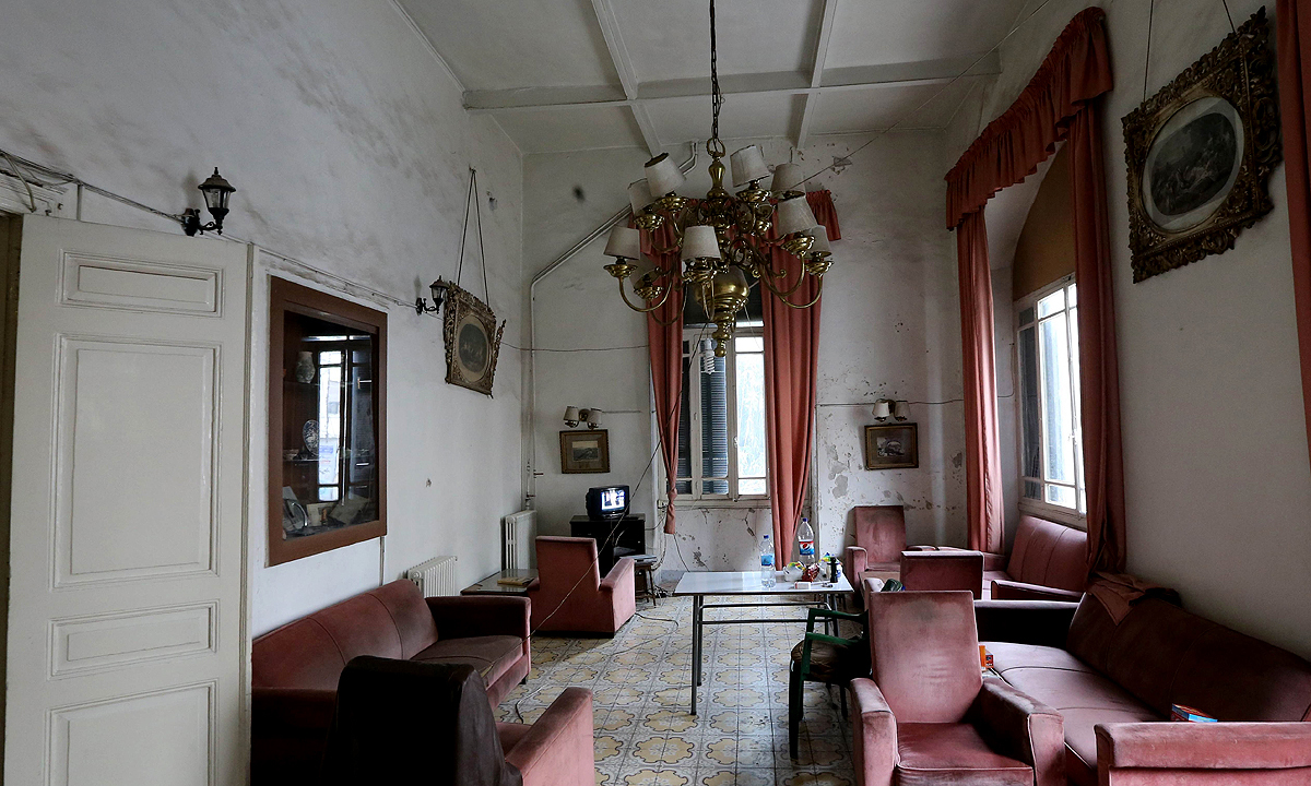 The reception hall of the Baron Hotel. —AFP