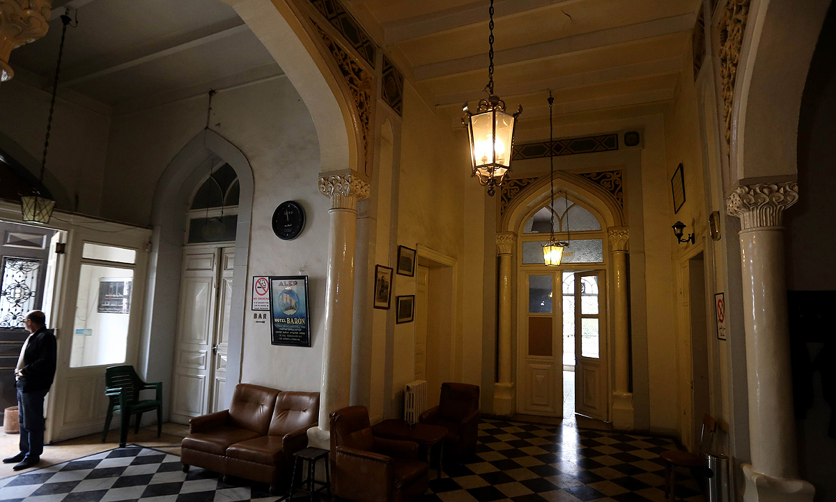 The lobby of the Baron Hotel. —AFP