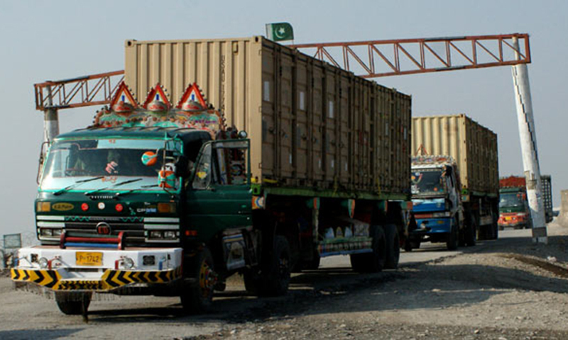 No agency is authorised to check consignments transported from Karachi to the Afghan border in sealed containers.—AP/File