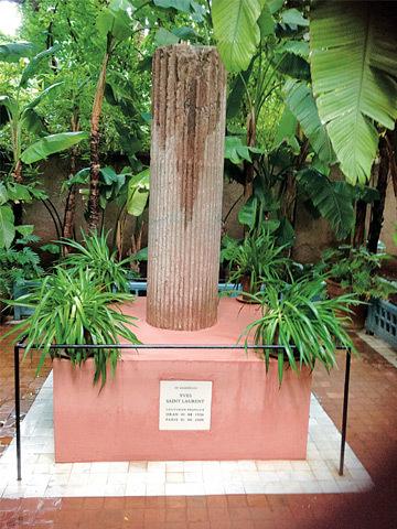 Yves Saint Laurent's memorial at Majorelle Garden.