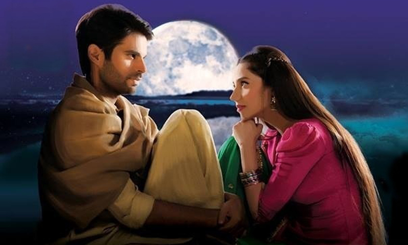 Adnan Malik and Mahira Khan in Sadqay Tumahray.