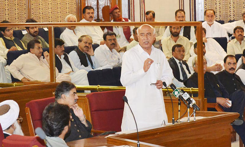 Chief Minister of Balochistan, Dr Abdul Malik Baloch speaks to Balochistan Assembly. – Online/File
