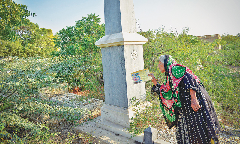 Meher Khatoon, the 90-year-old guardian of the Bene Israel graveyard in Mewa Shah Qabristan, Karachi. —Fahim Siddiqi / White Star