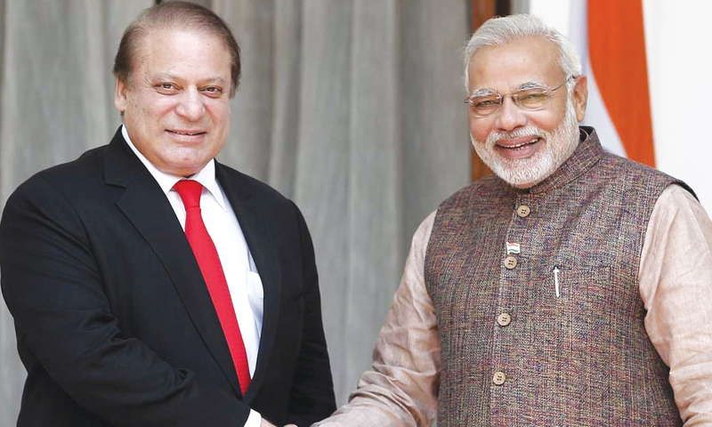 PM Nawaz Sharif's meeting with Indian counterpart in the Saarc summit is not certain, however hopes prevail.—Reuters/File
