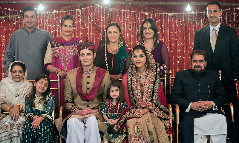 Pakistani television is facing a dearth of dramatic storytelling, but the shaadi plot is not banal, its treatment is. —Photo from TV serial 'Aaun Zara'.