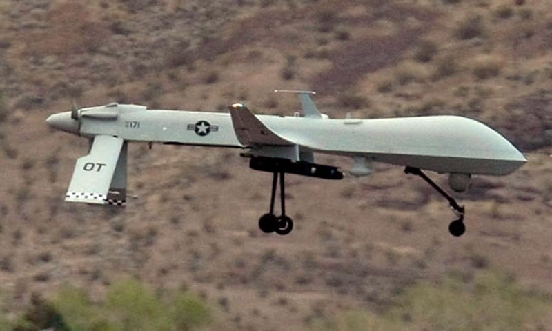 Intelligence sources say the US drone fired four missiles on a compound in Nazyan village of Nangarhar province on Monday. – Reuters/File