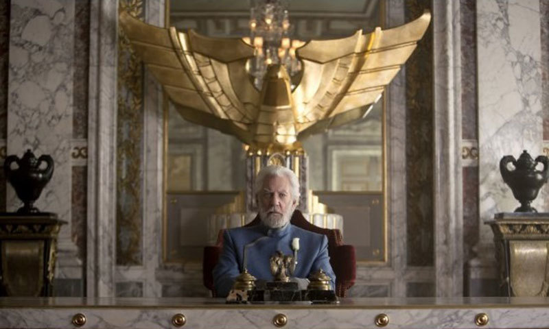 The cruel and unsympathetic President Snow. – Photo credit: IMDB