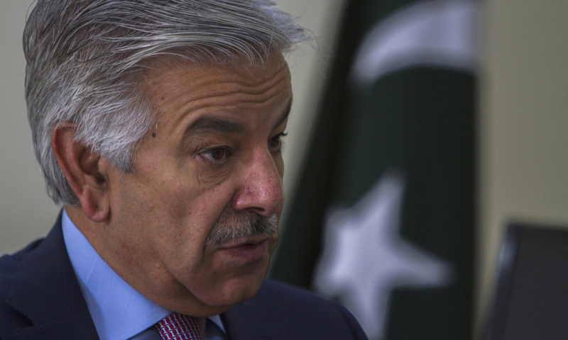 Pakistan's Defence Minister Khawaja Asif speak out loud against the  US while addressing at  the Institute of Strategic Studies.—Reuters/File