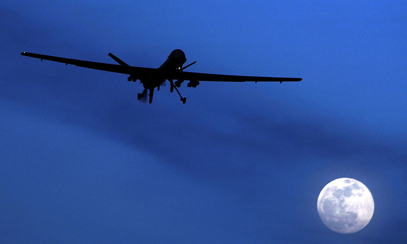This picture shows an unmanned US Predator drone flying over Kandahar Air Field, in southern Afghanistan. — AP/File