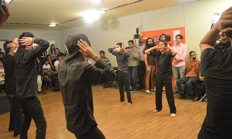 The skit ended with a final dance performance. – Photo by author
