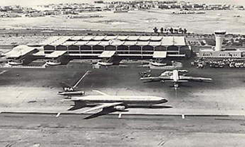 A PIA plane brings one of the first major waves of Pakistani workers to Dubai in 1974. This was how small the Dubai airport was then. Today, it is one of the largest and busiest in the world.