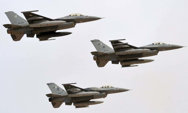 Pakistani military jets flying in the air.—AFP/File