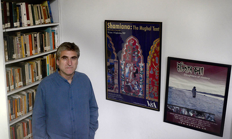 British journalist David Bergman poses at his home in Dhaka. — AFP