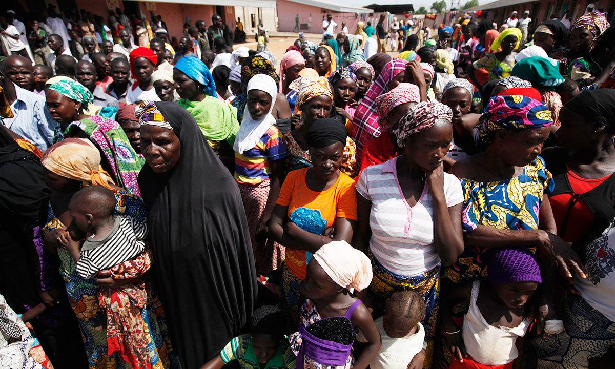 Nigerians flee Boko Haram attacks, flock to relief centres ...