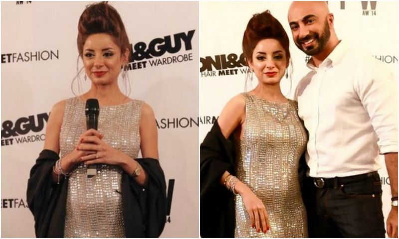 Sarwat Gilani's baby bump was spotted when she walked the red carpet for Toni & Guy as their Glamour muse on Day 3 of Pakistan Fashion Week Autumn/Winter