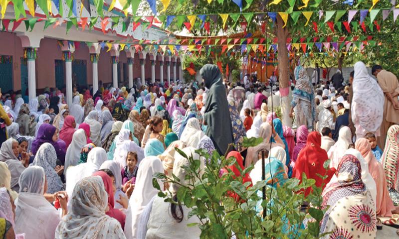 Women devotees at the shrine of Mai Sahiba. — Photo by the writer
