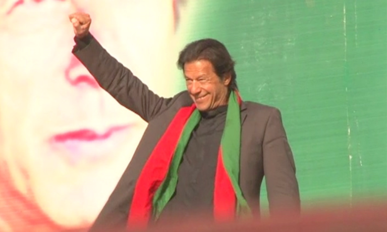 Imran Khan reaches the stage, late afternoon