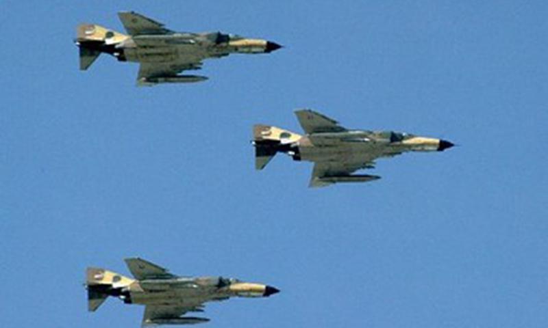 Iranian Phantom F4 jet fighters fly over Tehran. — AFP/File