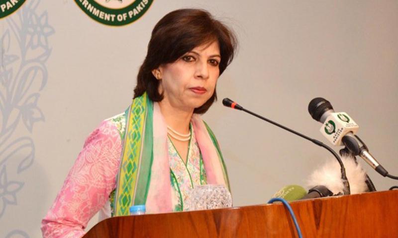 Foreign Office spokesperson Tasneem Aslam. — Photo courtesy Press Information Department