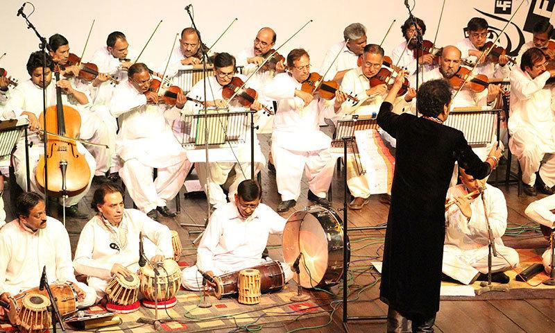 Sachal Jazz Ensemble performing at the Lahore Literary Festival 2014. – Photo credit: Mahjabeen Mankani/Dawn.com