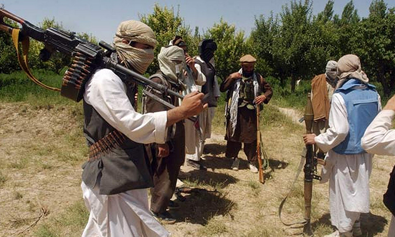 This picture shows Taliban militants. — Reuters/File