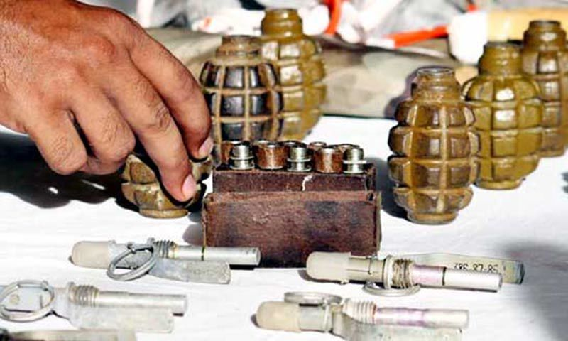 Frontier Corps seized a large cache of explosives after conducting two separate raids in Balochistan. -Online/File