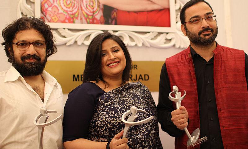 Farhad, Meenu and Mazhar Zaidi.— Photo by Yumna Rafi