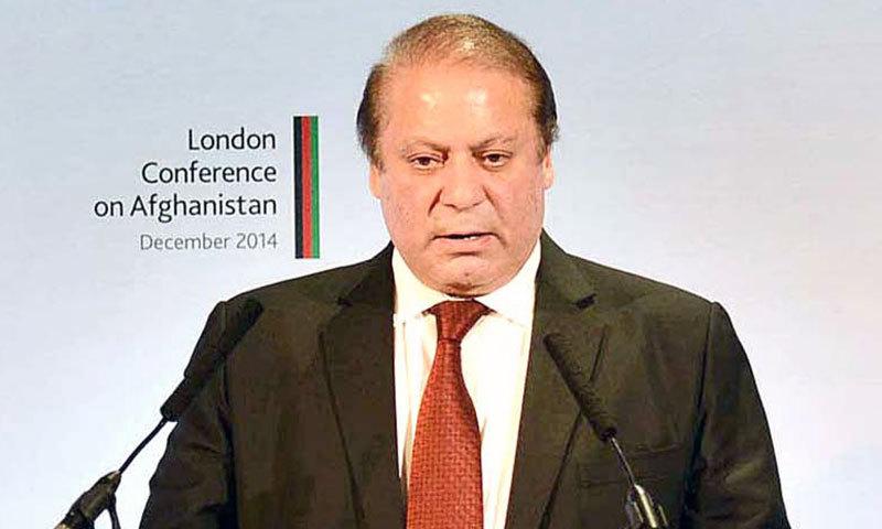Prime Minister Nawaz Sharif speaks at the London Conference on Afghanistan on Thursday. – APP