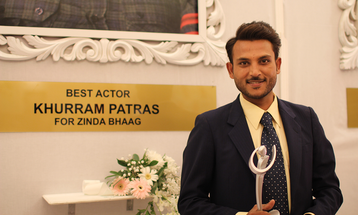 Khurram Patras won the Best Actor award for 'Zinda Bhaag'. —Photo by Yumna Rafi