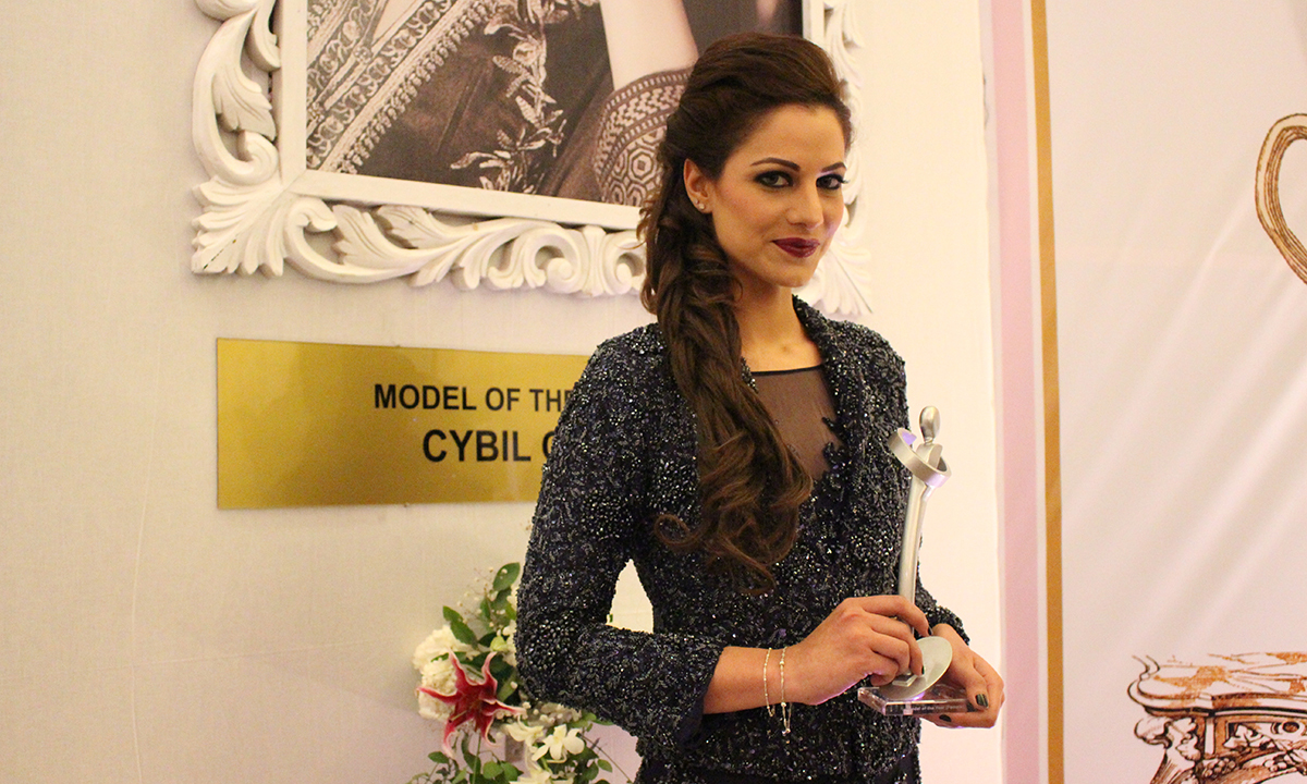 Cybil Chowdhry won Model of the Year (Female) award. — Photo by Mahjabeen Mankani