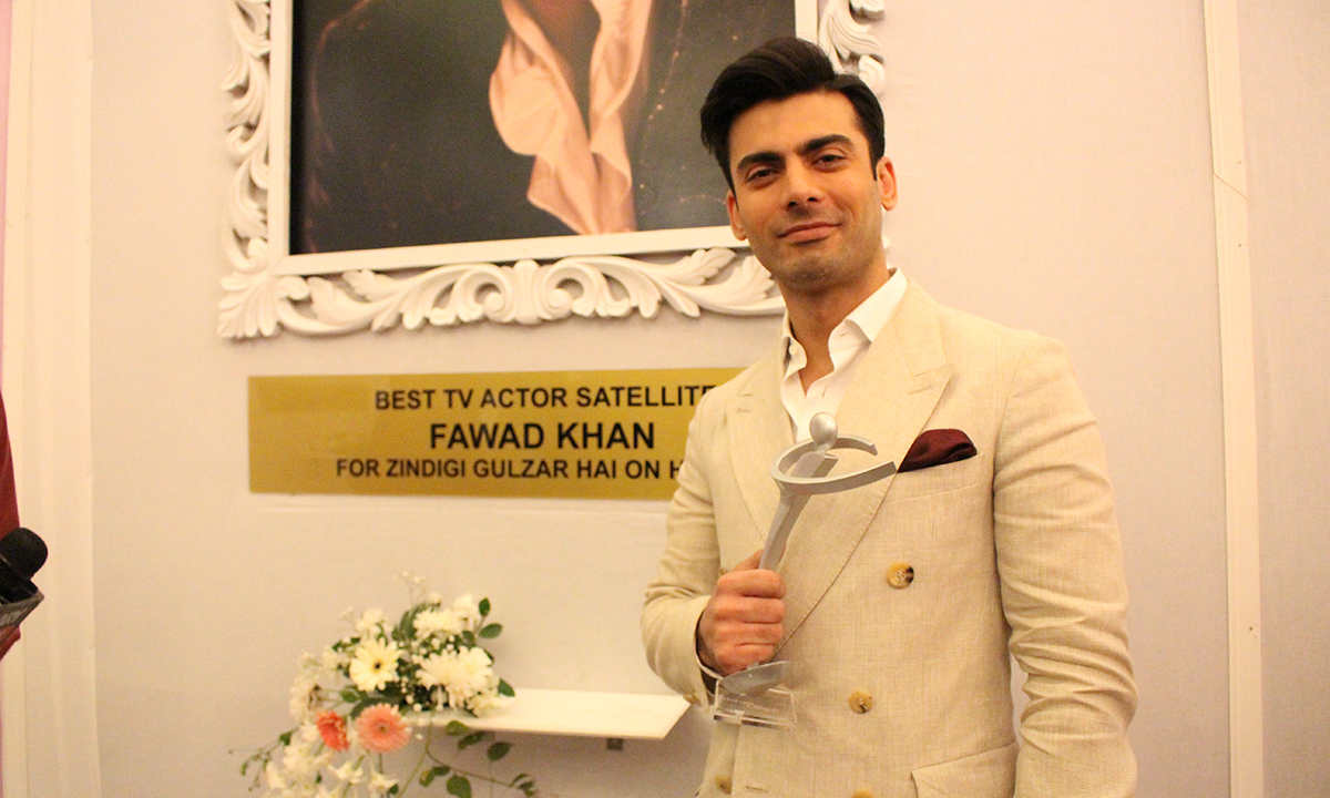 Fawad Khan won Best TV Actor Satellite for 'Zindagi Gulzar Hai'. — Photo by Mahjabeen Mankani